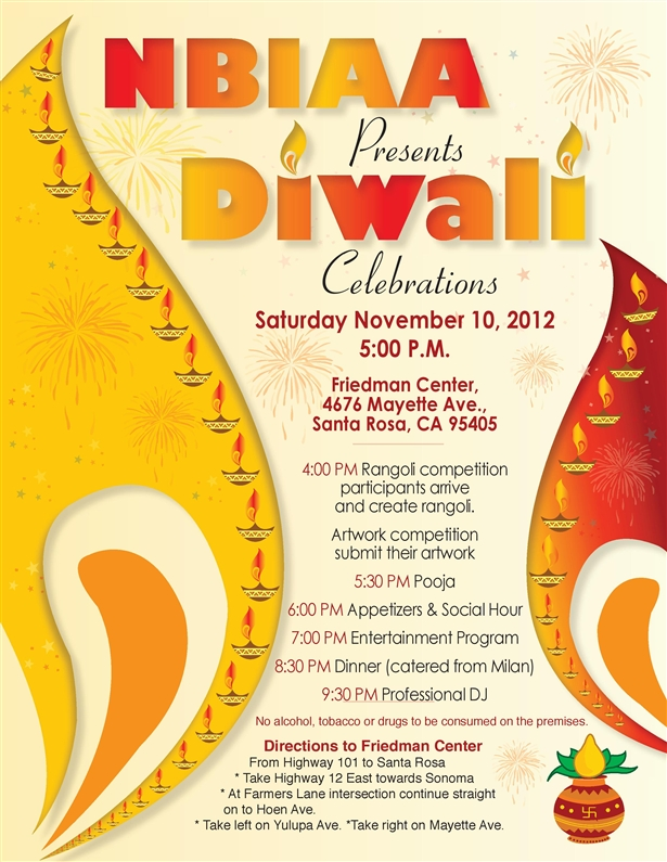 Diwali celerations in friedman center santa rosa ca indian event there will be rangoli competition stalls representing culture festivals dresses and food samples of different regions of india and then cultural events stopboris Gallery