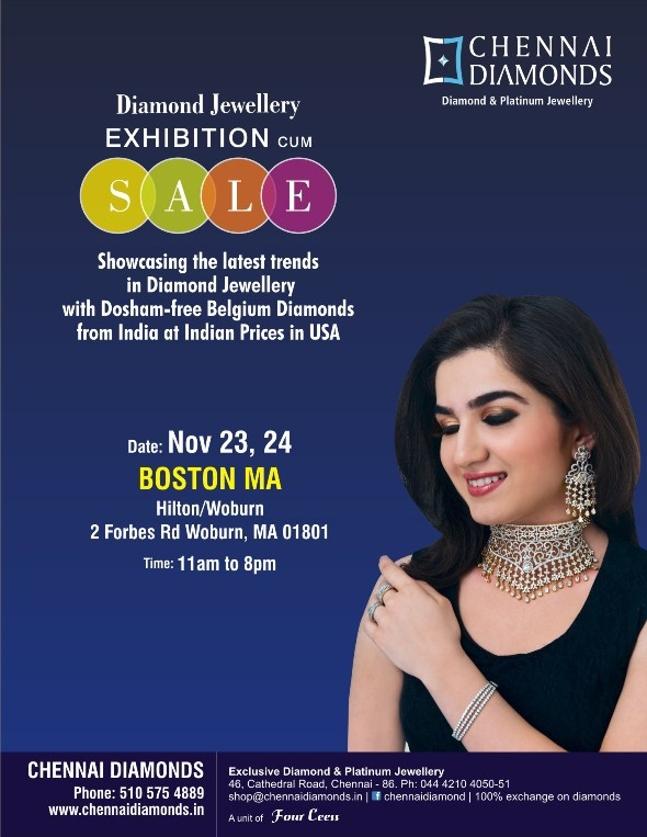 Chennai diamonds jewellery exhibition sale at hilton woburn share your reviews about chennai diamonds jewellery exhibition sale boston metro area stopboris Gallery