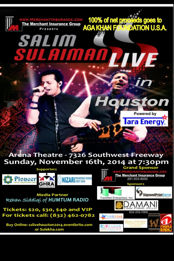 Salim Sulaiman Live In Houston At Arena Theatre Houston Tx