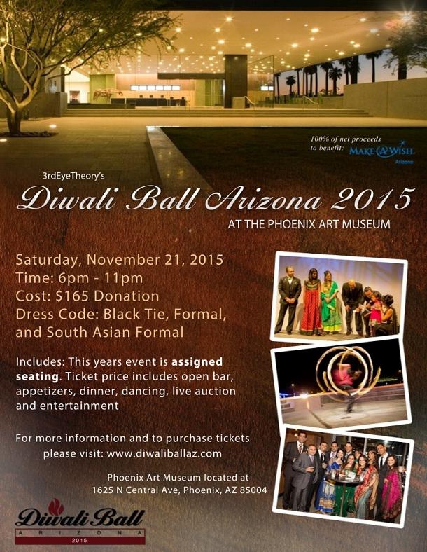 Diwali Ball Arizona 2015 at Phoenix Art Museum, Phoenix, AZ