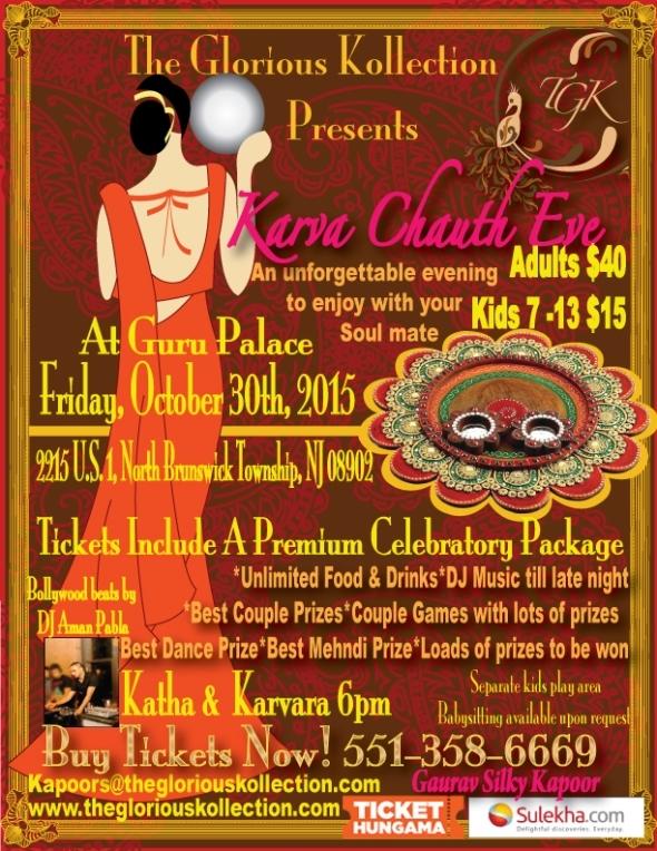Karva Chauth Puja & Celebration 2015 in North Brunswick, NJ